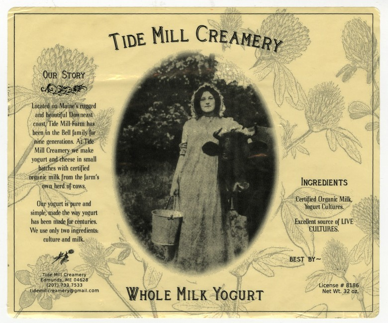 Tide Mill Creamery - Whole Milk Yogurt Label