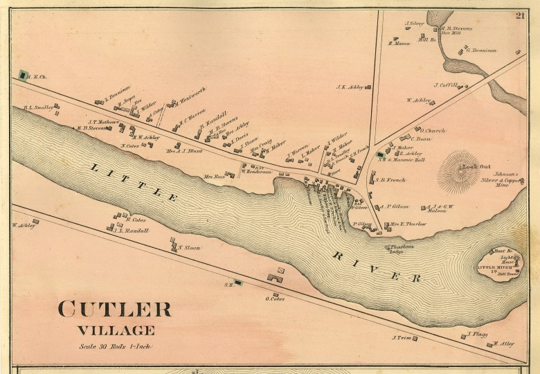 Map of Cutler, 1881