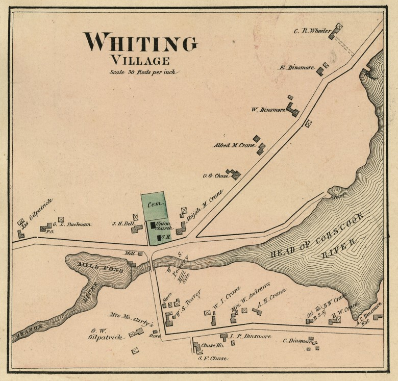 Map of Whiting, 1881