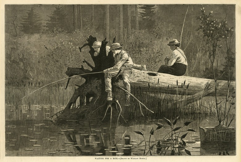 Waiting for a Bite — [Drawn by Winslow Homer]