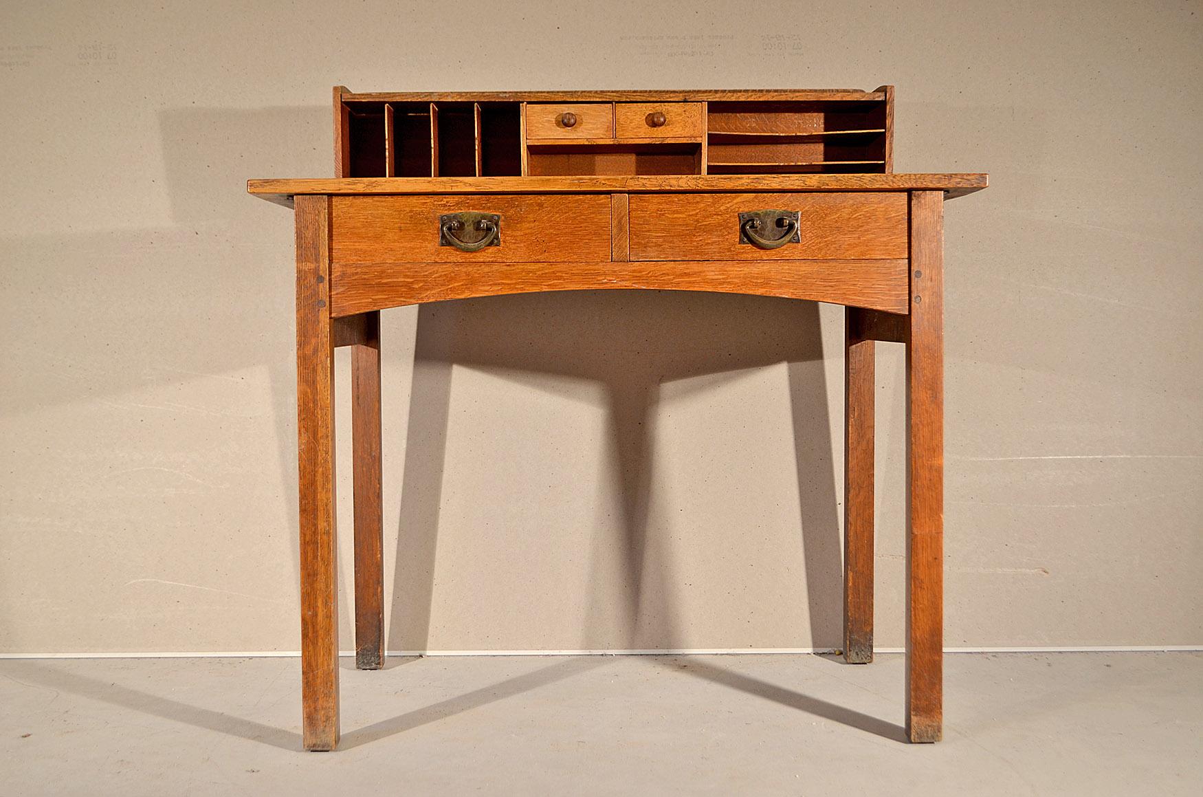 index for htm mission oak sale desk stickley furniture