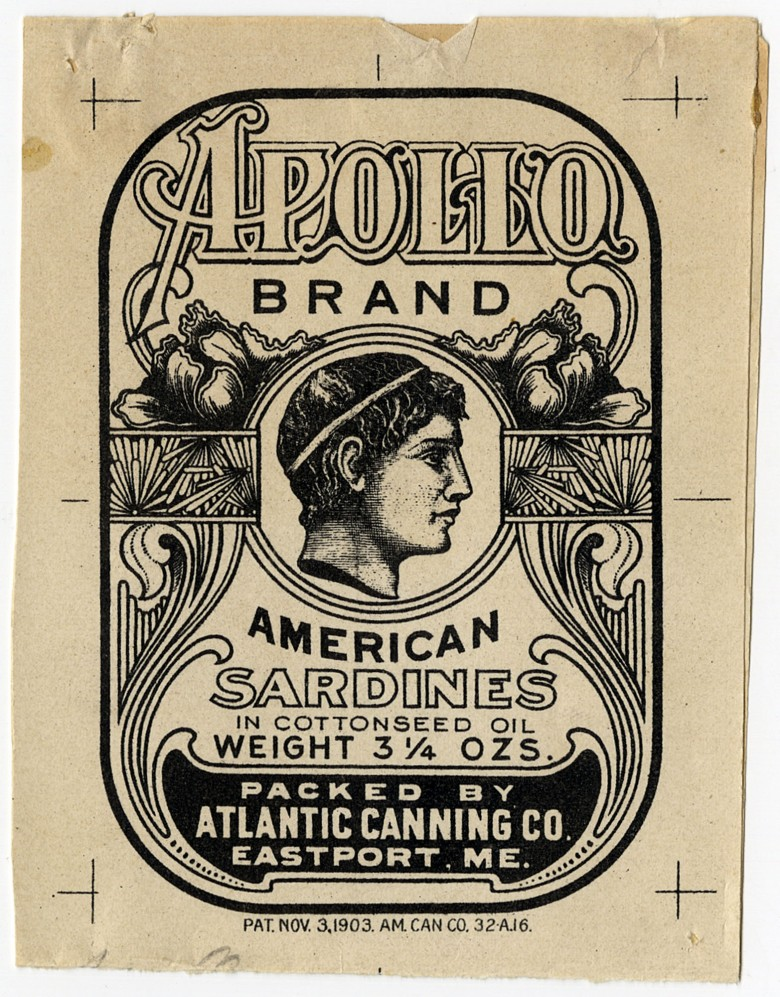 Apollo Brand. American Sardines in Cottonseed Oil.