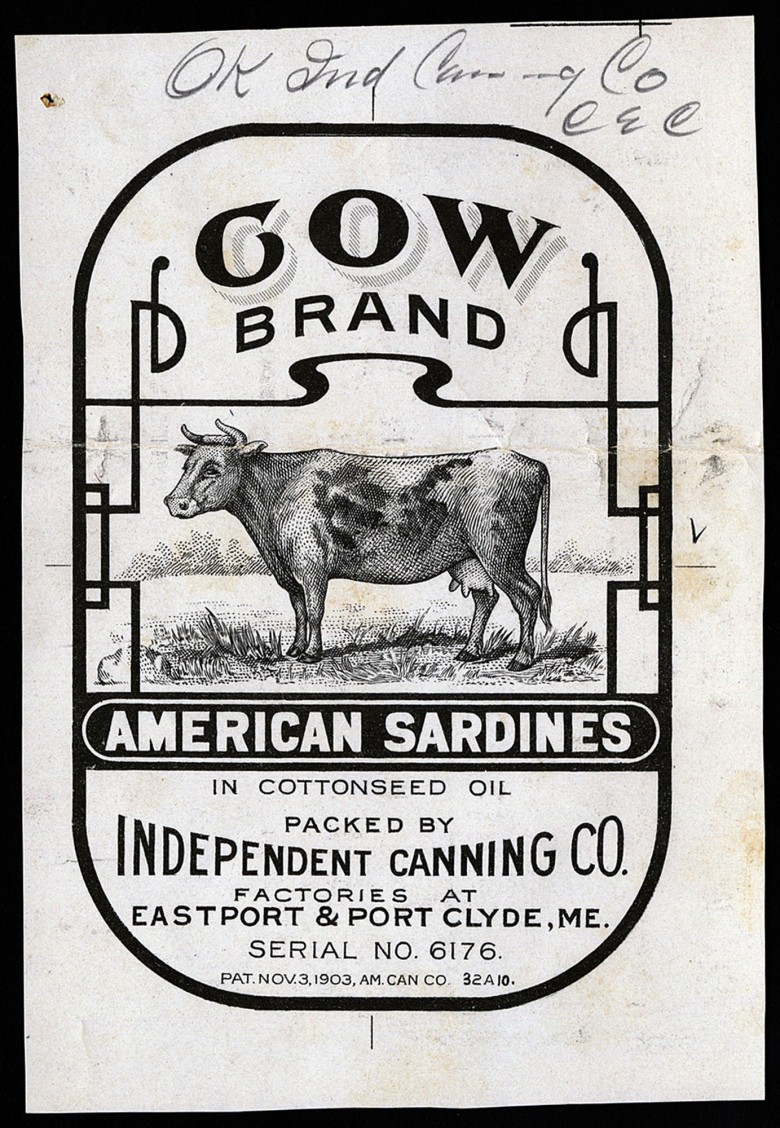 Cow Brand. American Sardines in Cottonseed Oil.