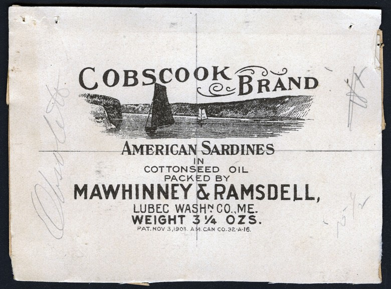 Cobscook Brand. American Sardines in Cottonseed Oil.