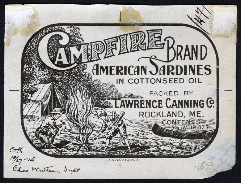 Campfire Brand. American Sardines in Cottonseed Oil.rand. American Sardines in Cottonseed Oil.