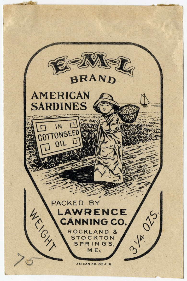 E-M-L Brand. American Sardines in Cottonseed Oil.