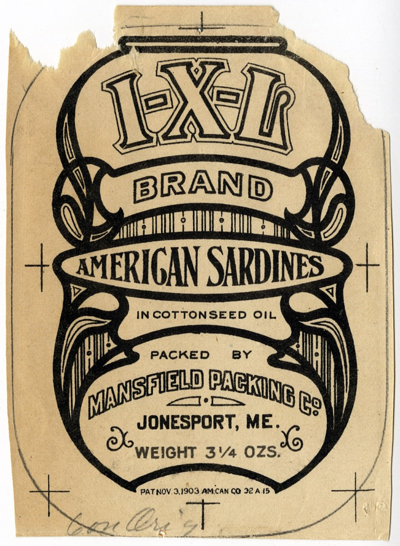I-X-L Brand. American Sardines in Cottonseed Oil.