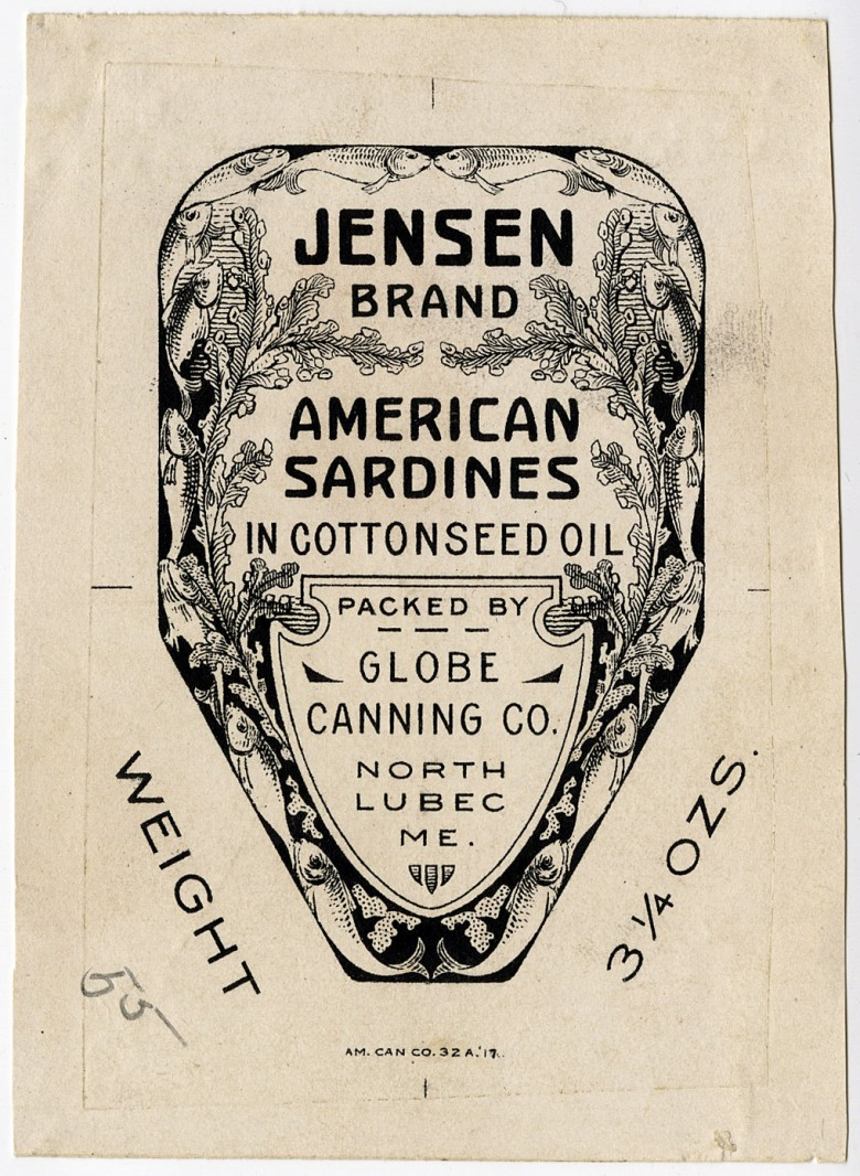 Jensen Brand. American Sardines in Cottonseed Oil.