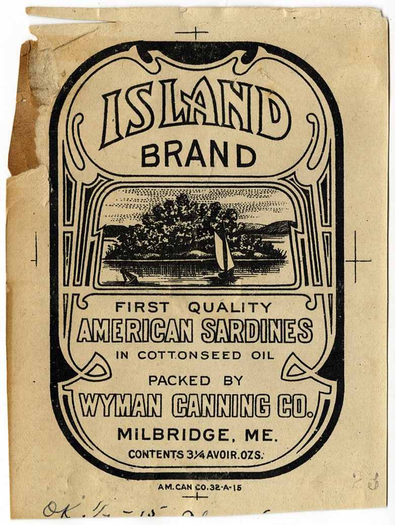 Island Brand. American Sardines in Cottonseed Oil.